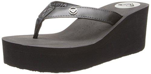 Roxy Women's Pagoda II Wedge Sandal,Black,8 B US