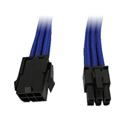 GeLid CA-6P-03 300mm 6-pin Blue Braid Sleeving PCI-Express Cable Cord
