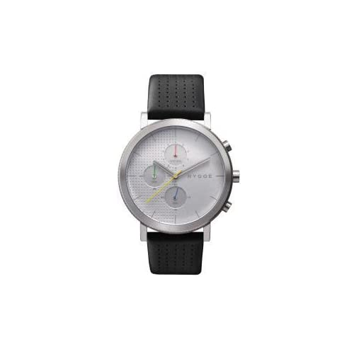 腕時計 HYGGE Watch - 2204 Series - Leather - Silver/Silver【並行輸入品】