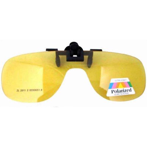 Eyekepper Einteilig Sonnenbrillen-Clip für Brillenträger Gelb