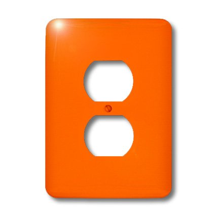 Lsp_163510_6 Florene Solid Colors - Image Of Orange Solid Bold And Bright Hue - Light Switch Covers - 2 Plug Outlet Cover
