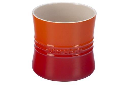 Le Creuset Stoneware 2 3/4-Quart Utensil Crock, Flame (Utensil Crock Orange compare prices)