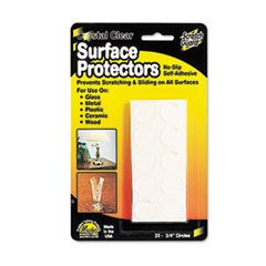* Scratch Guard Self-Adhesive Clear Surface Protectors, 3/4 Dia. Circles, 20/Pack