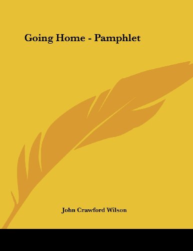 Going Home - Pamphlet