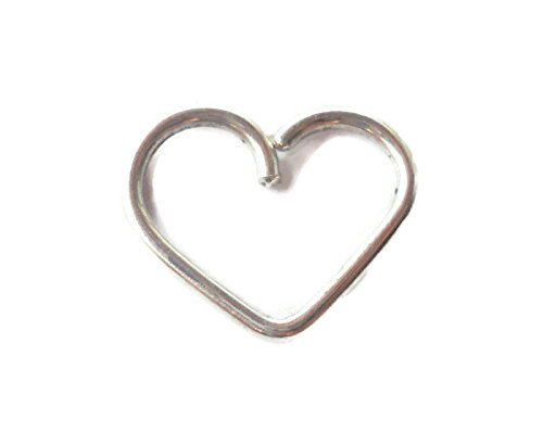 Heart Daith piercing ring,cartilage,helix,tragus,ear hoop earring 18 Gauge,925 Sterling Silver Heart