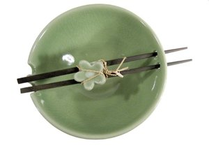 Celadon Bowl & Chopstick Gift Box - Buy Celadon Bowl & Chopstick Gift Box - Purchase Celadon Bowl & Chopstick Gift Box (Satinbox, Home & Garden, Categories, Kitchen & Dining, Tableware)