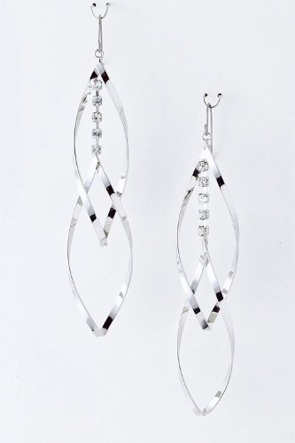 Baubles & Co Layered Metal Droplet Earrings (Silver)