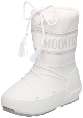 Tecnica Moon Boot POD, 34020100, Unisex-Kinder-Winterstiefe, Weiß (White 4), Gr. 33