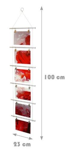 Fotoleiter-fr-6-Fotos-10-x-15-cm-Foto-Kartenhalter-Fotohalter-Kartenleiter-Fotoleiter-Leiter-Strickleiter-23-x-100-cm