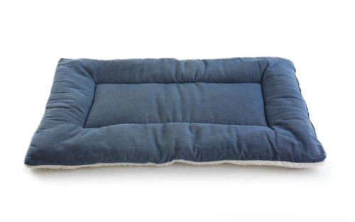 Pet Dreams Classic Sleep-Eez Dog Bed Reversible 24 By 18-Inch Pet Bed, Small, Denim front-730045