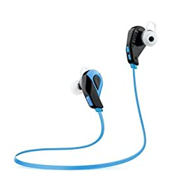 Super Bass Bluetooth Headphones, Start Sjsw Bluetooth V4.1 Wireless Stereo Sports Earbuds Earphones Headset Headphone for Running Gym Exercise with Microphone for Iphone Ipad Samsung and More (blue)