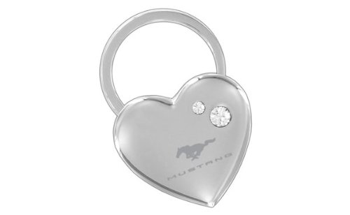 Ford Mustang Heart Shape Keychain W/2 Swarovski Crystals (Ford Mustang Ii compare prices)