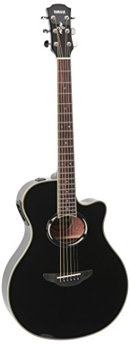 Yamaha APX500III BL Thinline Acoustic-Electric Cutaway Guitar, Black (Yamaha Acoustic Electric Guitar compare prices)