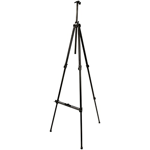 US Art Supply Huntington (Large) 72 Inches Tall Aluminum Tripod Field and Display Easel-Extra Sturdy Premium Metal Construction with Carry Bag (1-Easel)