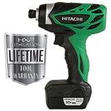 Hitachi WH10DFL 12 Volt Peak Impact Driver 1.5 Amp Hour Li-Ion, 841 Inch/lbs Torque, 2 Batteries