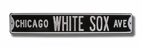 Chicago White Sox 6 x 36 Streetsign Black