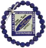 Zorbitz Giving Tree Acai Seed Help Children in Need Bracelet, Purple