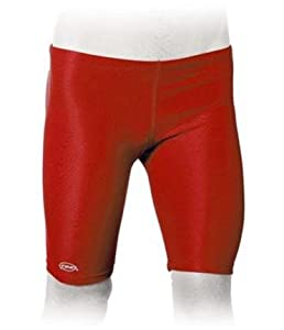 Solid Red Men's Jammer Swimsuit (Size 32)