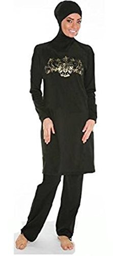 YEESAM® Prime Modest yet Stylish Islamic Sportswear Swimwear Costume - Black