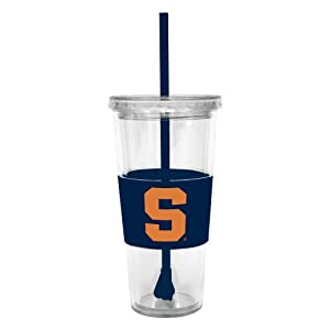 Buy NCAA Syracuse Orangemen 22 Ounce Insulated Tumbler with Rubber Sleeve and Stir Straw by Boelter Brands