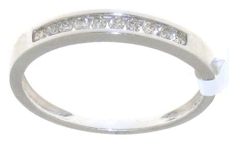Splendid 9 ct White Gold Women Channel Set Diamond Ring Brilliant Cut 0.16 Carat I-I1