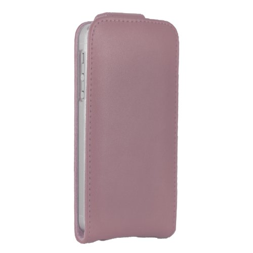цена на Premium Turned Up Down Genuine Leather Cover Flip Case Pouch Compatible For iPhone 5 & 5S