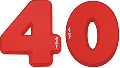 Large Silicone Number 40 Cake Tin Mould 40th Ruby Wedding Anniversary Birthday 4 0