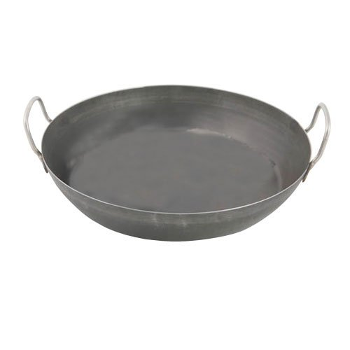 World Cuisine 17 3/4 Inch Black Steel Paella Pan