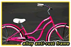 Anti-Rust aluminum frame, Fito Brisa Alloy 1-speed - Hot Pink, women's 26