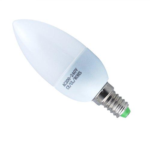 THG 6x 3W E14 LED Kerze Lampe Dekoratives Kronleuchter 5500K kaltweiß Innenbeleuchtung 200-240V(Schnelle Lieferung von Deutschland)