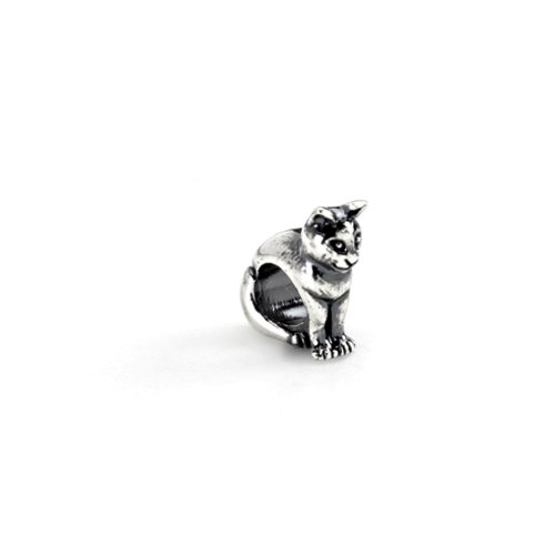 Cat Charm in Sterling Silver for Kera, Pandora and SilveRado Bracelets