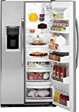 GE GSCS3KGYSS 22.7 cu. Ft. Side-by-Side Refrigerator with Water and Ice Dispenser - Stainless Steel