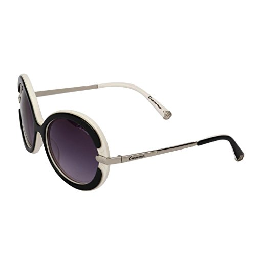 Ciemme Ciemme Luxury Classic Round Black & White Sunglass Gradient Lens Light Purple Frame For Women (CMSG2012) (Beige\/Sand\/Tan)