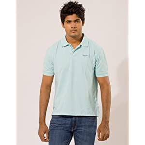 Pepe Jeans Mens Mens Light Blue Polo Tshirt | Colour Spa | Size S