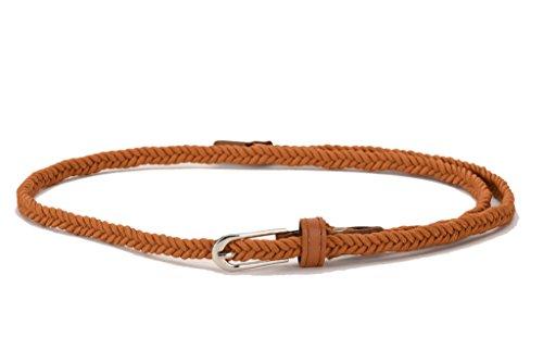 Tiekart Women Casual Brown Synthetic Belt (Brown)