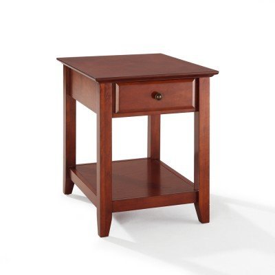 Cheap Crosley Furniture End Table With Storage Drawer in Classic Cherry Finish (CF1301-CH)