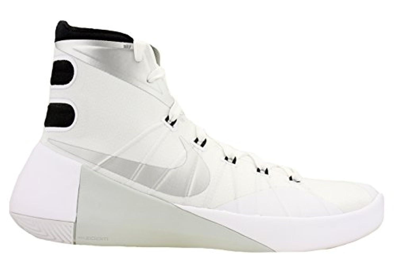 Nike Mens Hyperdunk 2015 TB Basketball Shoes White/Black/Met Silver 749645-100 Size 11.5