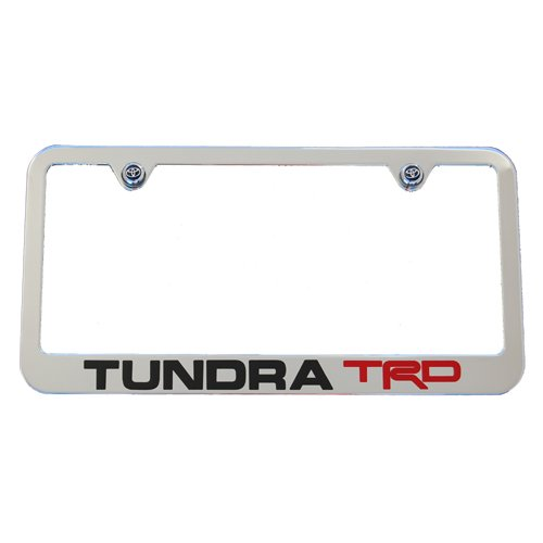 Toyota Tundra TRD Chrome License Plate Frame High End - Homononoeraea