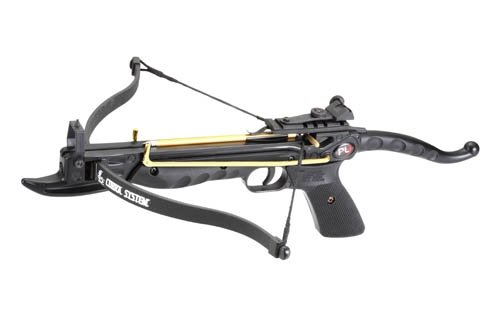 Prophecy 80 Pound Aluminum Self-cocking Pistol Crossbow with Cobra System Limb and 3 Arrows