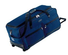 Jeep Wheeled Holdall 31 inch Luggage Bag with Wheels Navy 543N