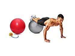 Gym Ball with Free Air Foot Pump (Size Options Available)