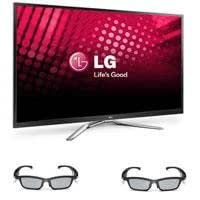 "LG 60PM9700 60"" Class Full HD 1080p Plasma 3D Smart TV, Bundle - with Two LG AG-S350 PDP SG 3D Glasses"