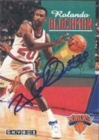 Rolando Blackmon New York Knicks 1993 Skybox Autographed Hand Signed Trading Card. by Hall of Fame Memorabilia