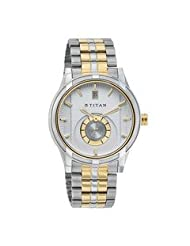 Titan Analogue White Dial Men's Watch - 1656BM01