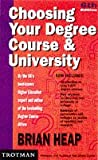 Choosing Your Degree Course and University Pb