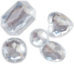 Darice Rhinestone Shapes 28 Grams Crystal 1075-11; 3 Items/Order