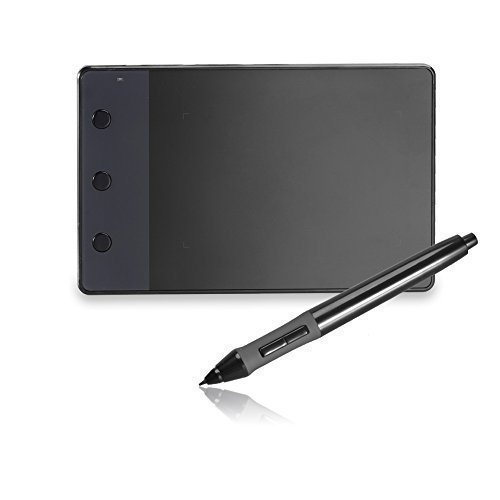 Huion 4X2.23 inches USB Art Design Graphics Drawing Tablet Digital Pen Signature Pad Board with Kenting Cleaning Cloth H420 (Digital Pen And Pad compare prices)