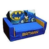 """Warner Brothers Batman Foam Flip Sofa (Blue / Yellow / Grey) (10""""H x 15.75""""W x 26.25""""D)"""