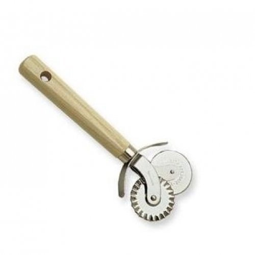 Pastry And Pasta/Pizza Cutter, Stainless Steel With Wood Handle