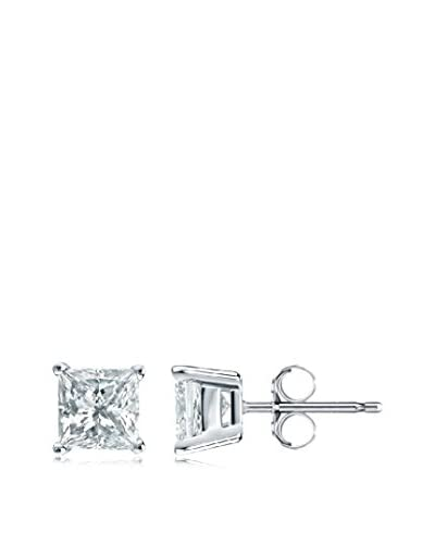 Peermont Jewelry Princess-Cut 4mm CZ Stud Earrings